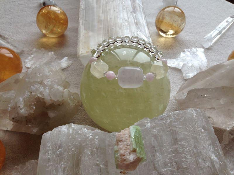 蟹座の満月石曼荼羅ブレス『太陽と月の結婚』